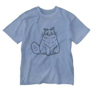 おすましさん Washed T-shirts