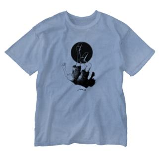 浮(ふ) Washed T-shirts