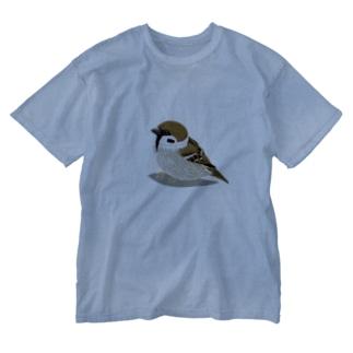 お散歩スズメ2 Washed T-Shirt