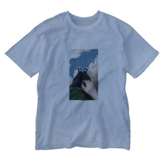 雲の上で Washed T-shirts