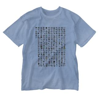 絵般ニャ心経 Washed T-shirts