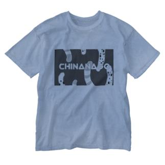 チンアナゴオシャン(モノトーン) Washed T-shirts