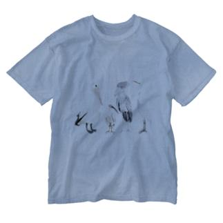 ペリカン目の鳥たち Washed T-shirts