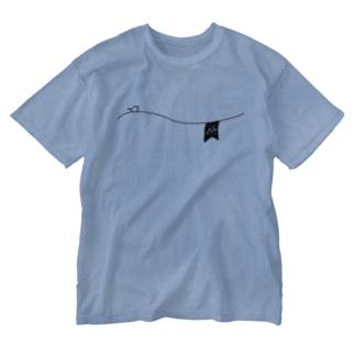 ペアTシャツ屋のシバヤさんのペアデザイン(Mr.)ガーランド Washed T-shirts