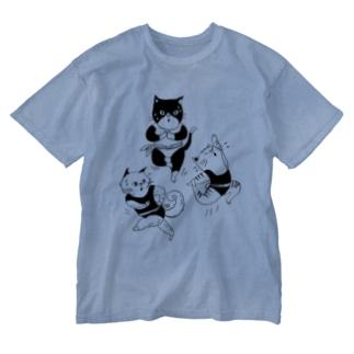 エクササイズキャット Washed T-shirts