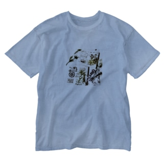 full  of funの花香るガーデンプレート Washed T-shirts