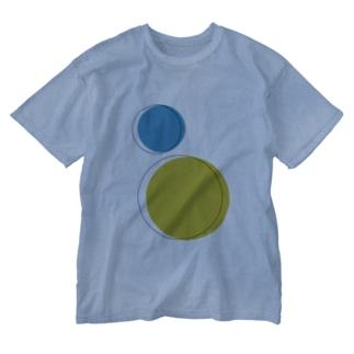 線から出ても良いよ Washed T-shirts