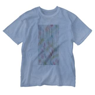 水色ぷりーつ/カヨサトーTX Washed T-shirts