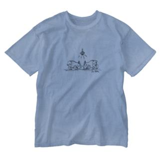 クッキーこねアマミノクロウサギ Washed T-shirts