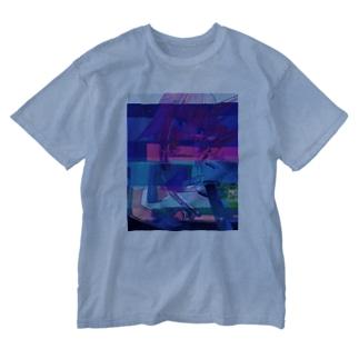ねぐせグリッチ Washed T-shirts