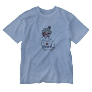 妄想サマーバケーション Washed T-shirts
