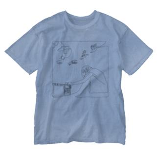 『はつか』ジャケットウォッシュTシャツ Washed T-shirts