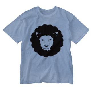 モードなライオン Washed T-shirts