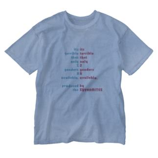 人工/人口ピラミッド(太字ver.) Washed T-shirts