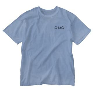 のびびの蹄鉄de視力検査 上段の3つ(小) Washed T-shirts