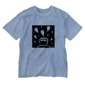 幽霊びゅーん Washed T-shirts