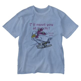 CT75あひるのおひるさんのスキーA Washed T-shirts