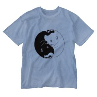たいじの Yinくん & Yangちゃん Washed T-shirts