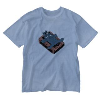 SYOKENのカバとカセットテープ(カラー) Washed T-shirts