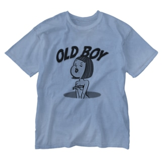 LOCOWORKSのOLD BOY by Butter dogg Washed T-shirts