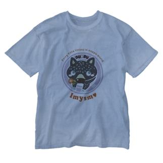 Titta (ティッタ)パープル✖️オレンジ Washed T-shirts