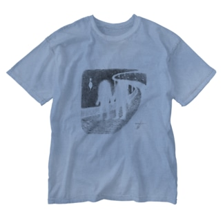 OBAKE highway Washed T-shirts