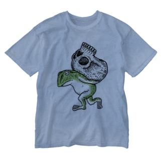 しびとおくり Washed T-shirts