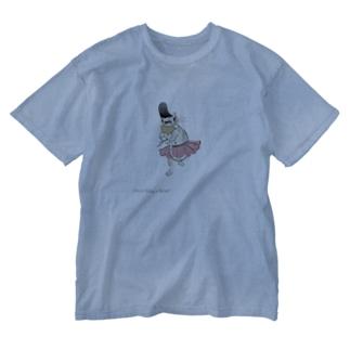 鳥獣戯画バレエ【キトリ】 Washed T-shirts