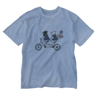 フレブルとパググッズS'IRISERのフレブル サイクリング Washed T-Shirt