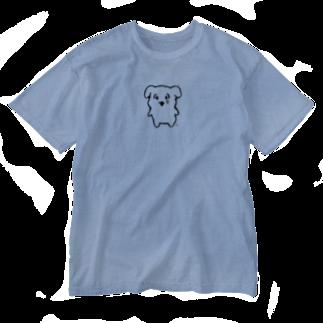 にくまん子のなんで泣いてんのよよT(黒線) Washed T-shirts