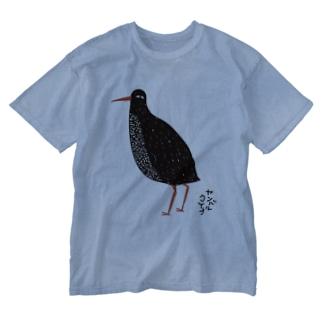 ヤンバルクイナ Washed T-shirts