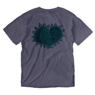 『理性 感情 防衛 無防備』 NEGA Washed T-shirts