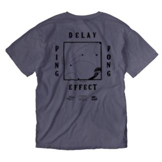 CHALKBOY x astrollage DELAY WASH T-SHIRTS (ink: BLACK) Washed T-shirts