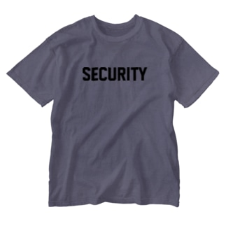 SECURITY セキュリティ ロゴ Washed T-shirts