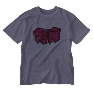 あかいりぼん Washed T-shirts