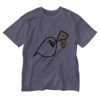 文鳥PPP02 Washed T-shirts
