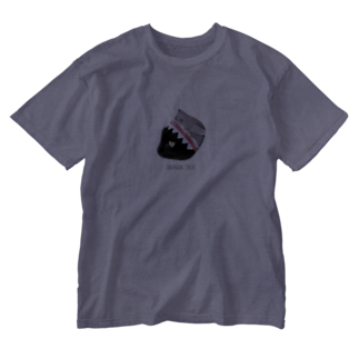 HakubeiのシッポのSHARK🐱 Washed T-shirts