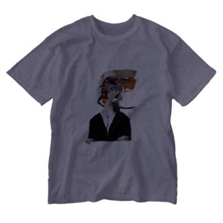 ふつうに2美 Washed T-Shirt