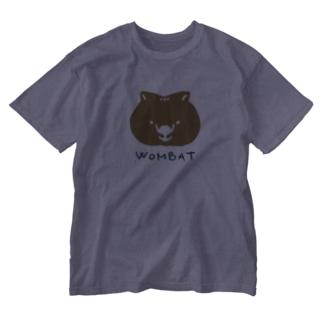ウォンバットのおかお Washed T-shirts