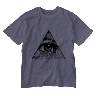 Illuminati eye triangle (bk) Washed T-shirts