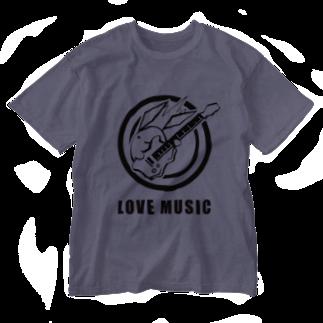 ひよこのもり工房の【復刻】サイトウサン(2007年版)黒インク印刷 Washed T-shirts