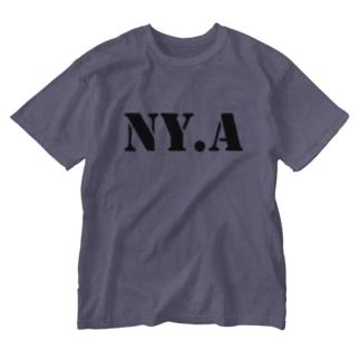 エヌワイドットエー(通称「ニャ」) ・チャコールグレー Washed T-shirts