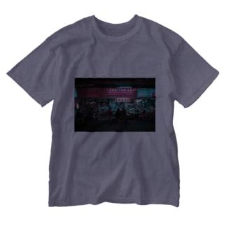 台湾夜景 Washed T-shirts
