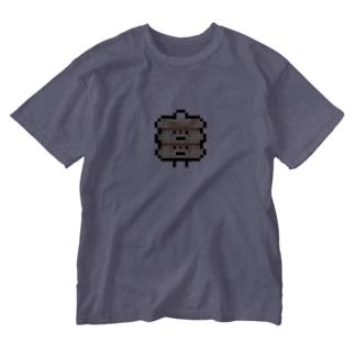 PixelArt PAN ダブルパンケーキさん Washed T-shirts
