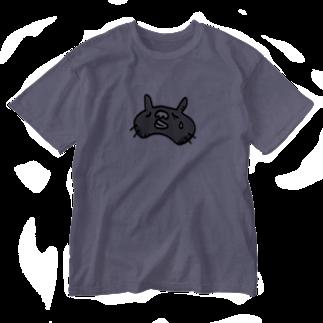 GRADUCAのくまネコニャ_悲しみ Washed T-shirts