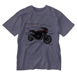 Yoctosec.DesignのDoremi 900RS Red Parts List Washed T-shirts
