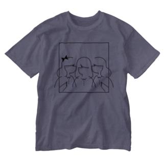 3 girls Washed T-shirts