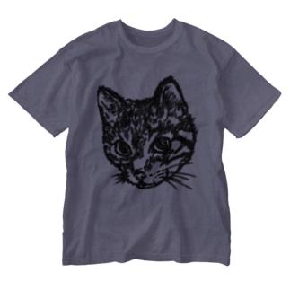 Shimajiro The Cat Washed T-shirts