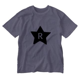 イニシャル R Washed T-shirts