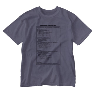 パスワードハッキング(クラッキング):プログラム:C言語:プログラマ:システムエンジニア:ネットワーク Washed T-shirts